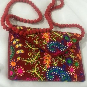 Ethnic embroidered clutch/ sling/ crossbody bag